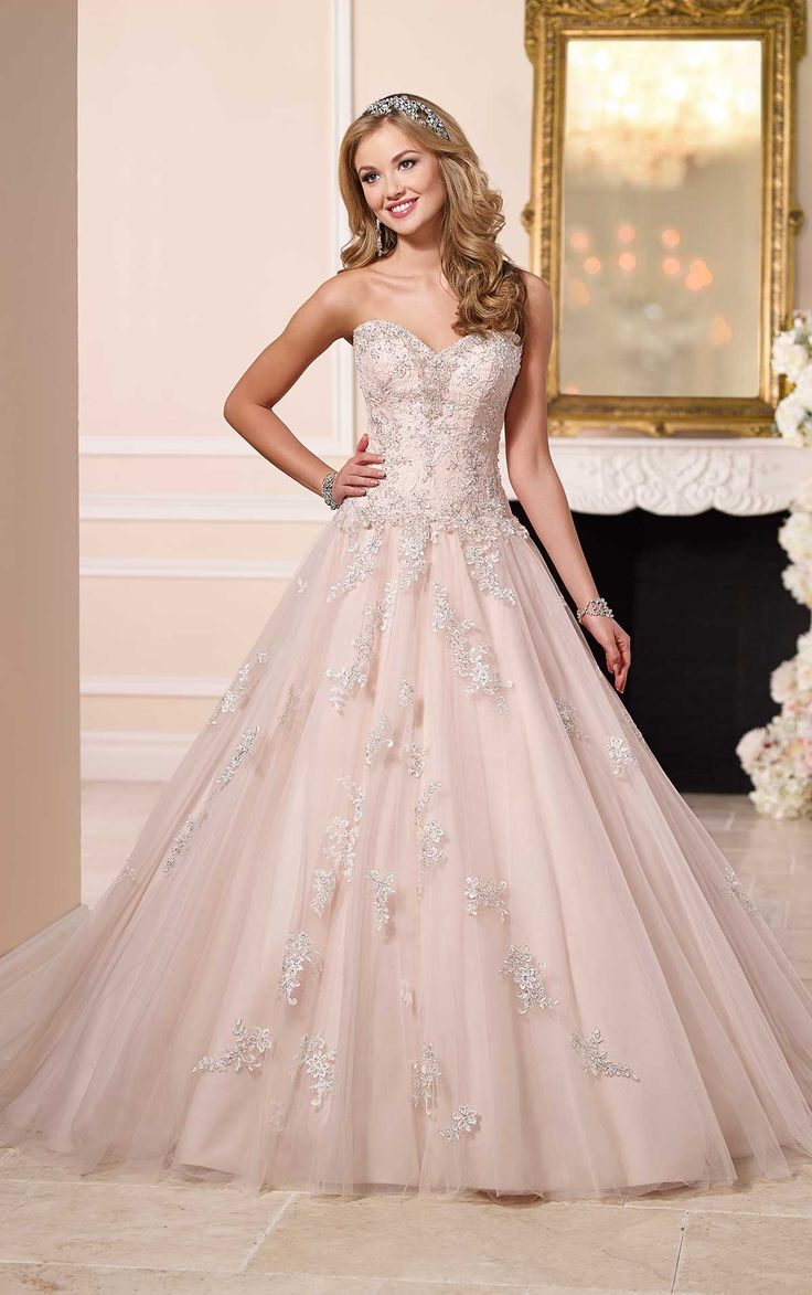 wedding dresses perfect wedding dress All eyes will be on you in this romantic tulle over satin ball gown from Stella