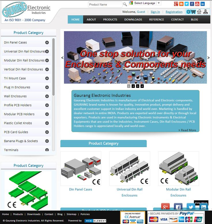 We are pleased to inform you that we have recently launched our New E-Commerce site www.gaurang.com The new site has many features that are beneficiary to user. Features •    Product Details •    Online Update •    My Order  •    New Product  We welcome to you, register yourself to serve you better. #PlasticEnclosures , #DinRailEnclosures ,#ElectricalEnclosures , #ABSenclosures ,#WallMountEnclosures ,,#ElectronicEnclosures, #Enclosures , #Knobs