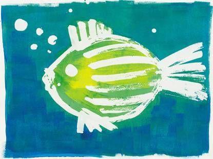 poisson au drawing gum