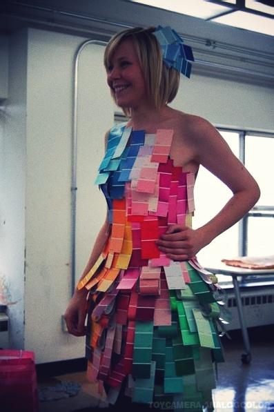 the paint chip dress