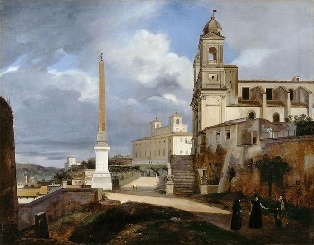 La Trinité-des-Monts et la Villa Medicis, Rome, 1808 - François-Marius Granet