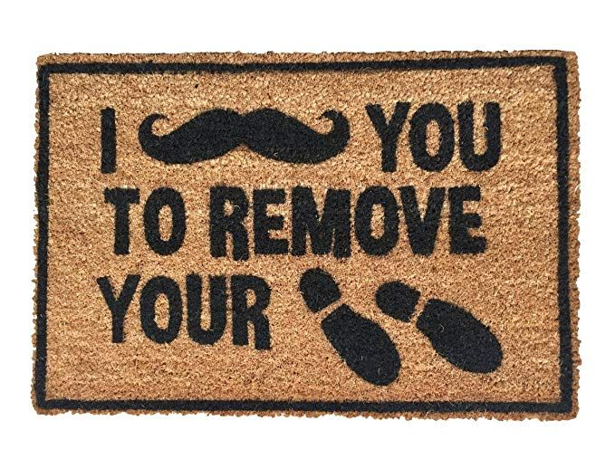 Rise8 Studios Funny Outdoor Doormat I Moustache You To Remove
