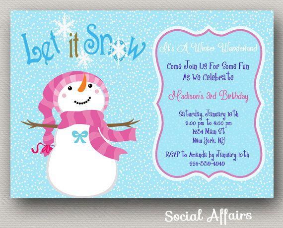 snowman party invitations thevillas co