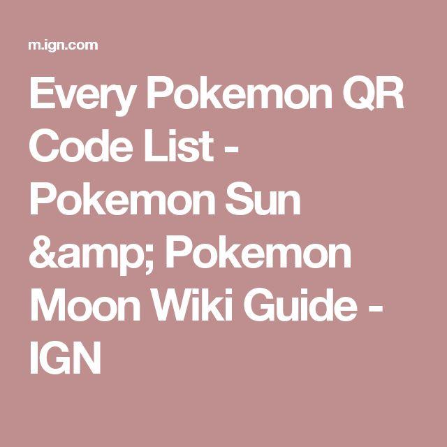 Every Pokemon QR Code List - Pokemon Sun & Pokemon Moon Wiki Guide - IGN