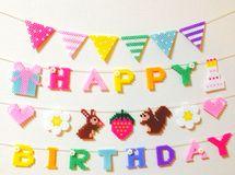 虹色のお誕生日ガーランド✩