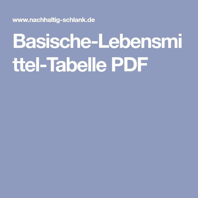 Basische-Lebensmittel-Tabelle PDF