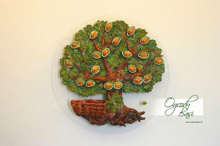 Drzewo genealogiczne kasztanowca z koszyczkiem na dodatkowe kasztanki prezent na rocznicę ślubu #25 #30 #40 #50 #60 #rocznica #slub #jubileusz #prezenty #gody #urodziny  www.ogrodybasi.pl