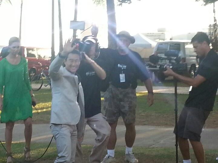 Daniel Dae Kim . Hawaii Five o h50 premiere in Waikiki. 9-23-12