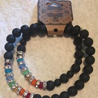 Chakra Bracelet & Anklet Set  w/ Lava Beads to use with Essential Oils $17 without oils $20 with (20 drops) of oil of your choice of what I  have in stock