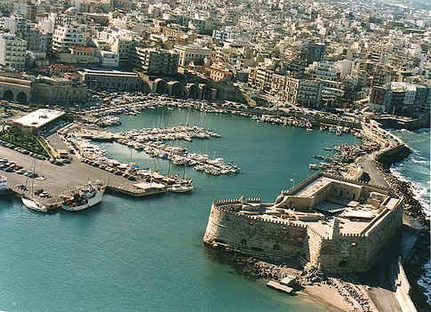 Venetian harbor in Heraklion  so beautiful and an amazing view from the top