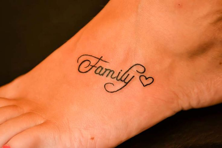Family heart tattoo..sorta like this better then the family and infinity sign