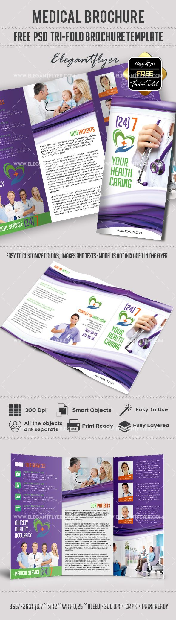 99 best free brochure templates images on pinterest brochures medical free tri fold psd brochure template httpselegantflyer pronofoot35fo Images
