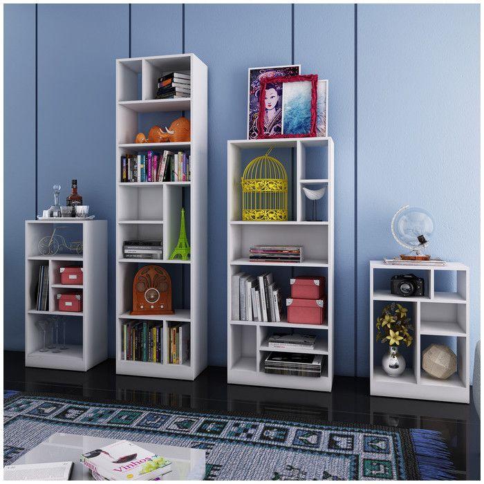 Latitude Run Janet 4 Piece Standard Bookcase | Wayfair