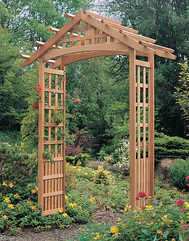 14 best images about double a frame grapevine arbor for Timber garden arch designs
