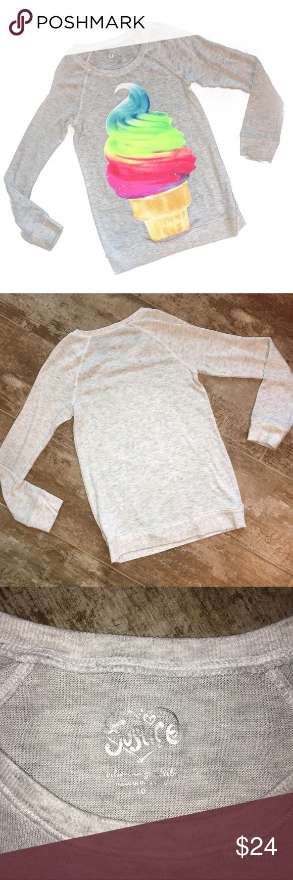 Justice Long Sleeved Sparkly Ice Cream Tee Size 10 Justice Long Sleeved Sparkly Ice Cream Tee Size 10 - *Excellent Condition* Justice Shirts & Tops Tees - Long Sleeve