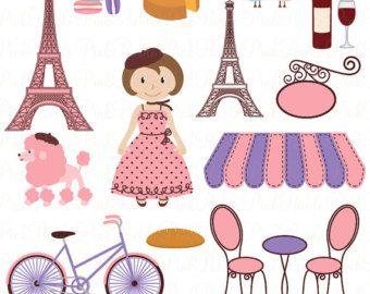 Paris clipart French Paris Clip art Poodle by CeliaLauDesigns