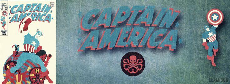 Portada del Capitán América  #ilustracionalbacete #ilustracion #ilustración #ilustration #captainamerica #marvel #hidra