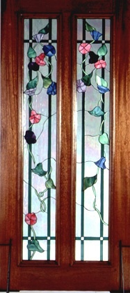 Double Panel door with green trellis and morning glory vines with blue, red and lavender blooms: Morning Glories, Green Trellis, Glories Vines, Mornings Glories, Panels Doors, Grand Doors, Doors Gat, Mornin Glories Fav, Double Panels