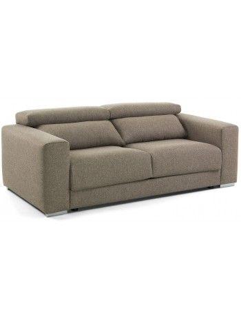 Un divano che trasuda raffinezza ed eleganza, grazie alle sue forme. Molto estetico, trasmette una sensazione di comfort, con poggiatesta reclinabile e seduta estraibile allungabile.