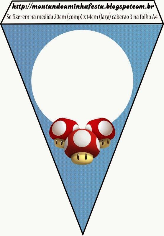 Banderin hongo Mario