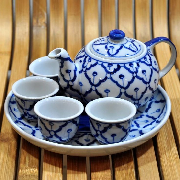 Keramik Teekannen Set klein 18,5x18,5x10cm günstig