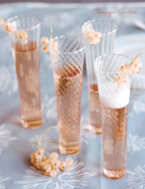 champagne, cognac, Angostura bitters, garnished with a sprig of currents....lovely! #modcloth #wedding