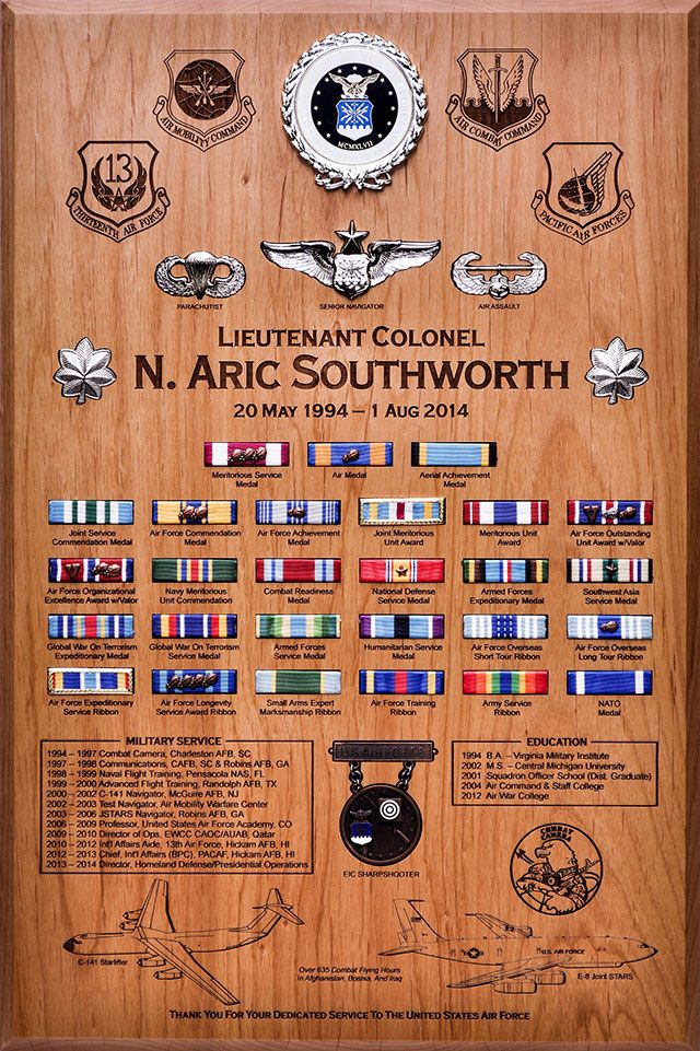 Air Force Samples   Honor Their Service.us   Shadow box ...