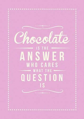Chocolate Answer Art Print