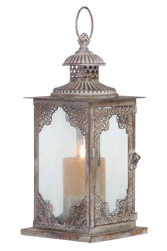 A rustic yet elegant lantern. HomeDecorators.com