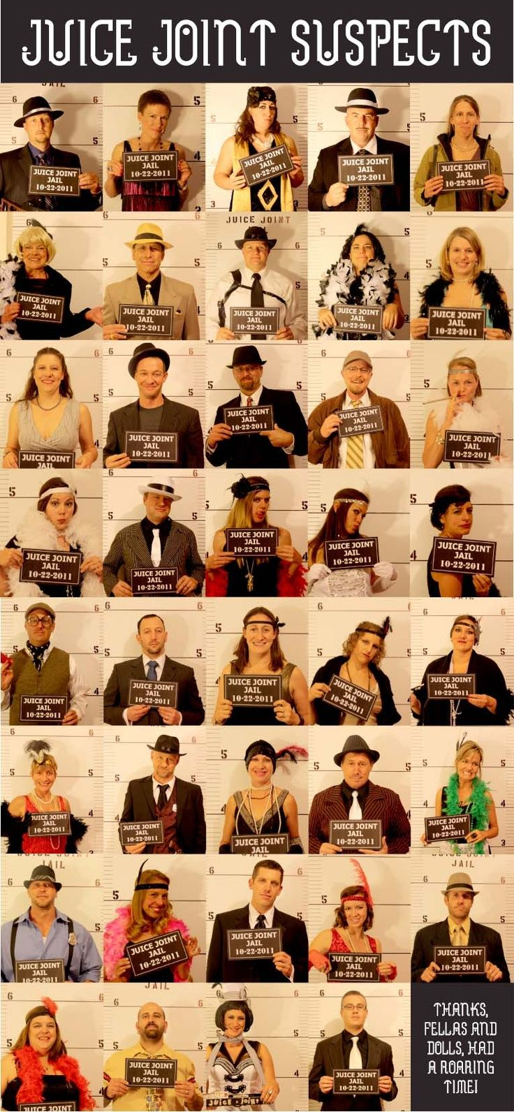 Looking for a way to throw a great party? You gotta check out Nightofmystery.com! We attended this roaring twenties party and had a blast. Everything you need to hold a great party is included in their kits and you are sure to have a hit when you work with them! My mug shot is at the top! Enjoy!