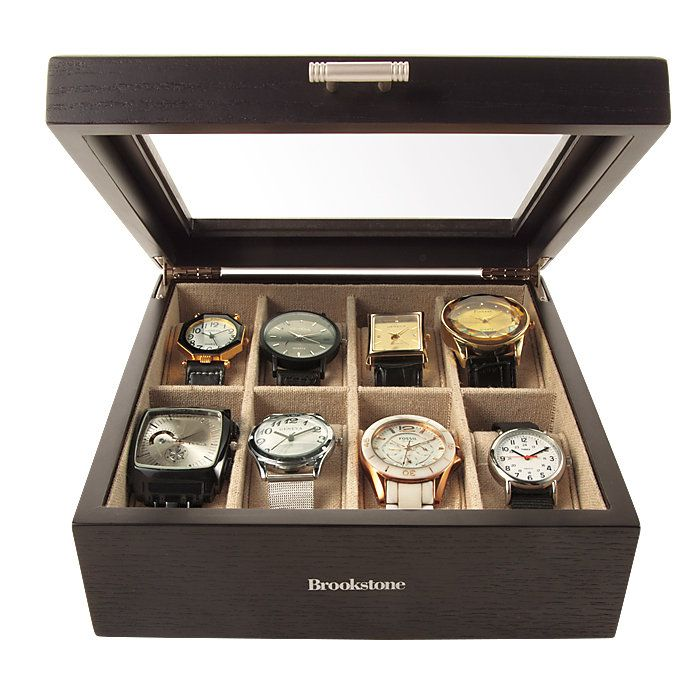 Watch Box - Stores and protects up to 8 timepieces.