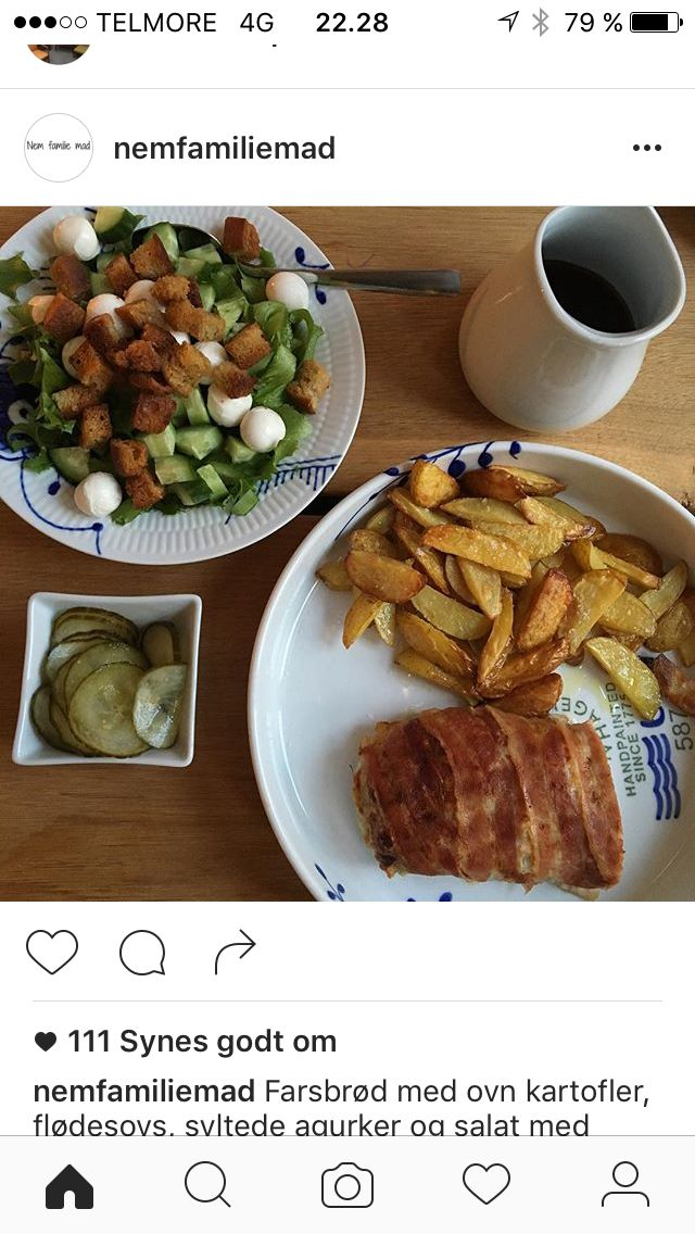 Farsbrød med salat