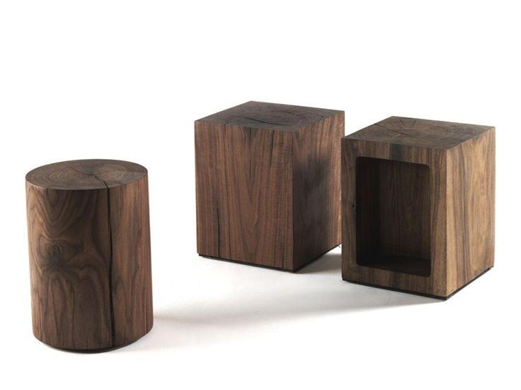 Sgabello / tavolino in legno BOSS BLOCK by Riva 1920 | design Maurizio Riva, Davide Riva