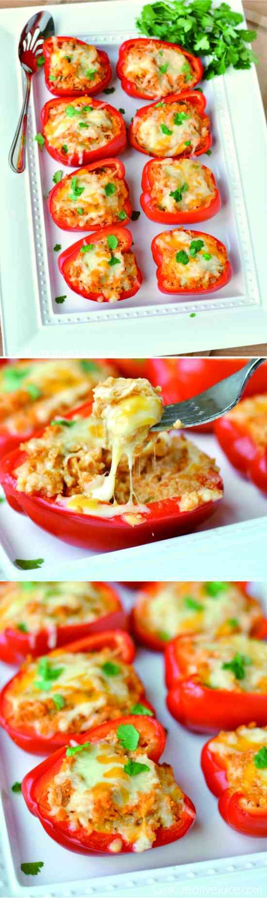 cheese, chicken, healthy, recipes, red pepper
