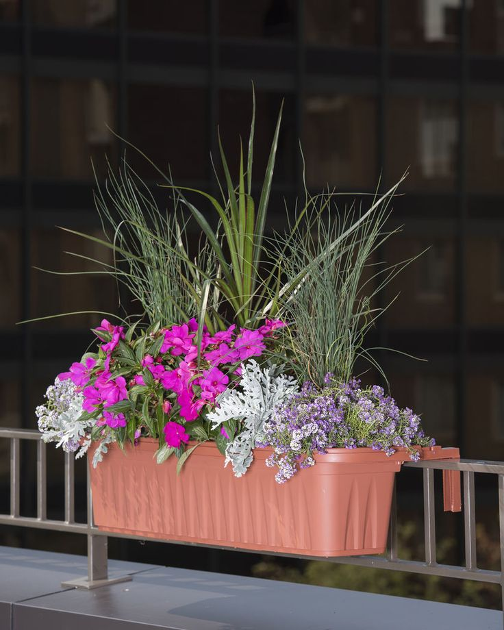 Hanging Flower Baskets Railings : Best railing planters ideas on window