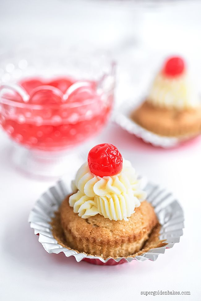 A cupcake with a red nose on top? Ok, they're actually cherries on top of Vanilla #RedNoseDay Cupcakes (but we'll agree to disagree). These tasty treats will delight your FUN-raising guests. Learn how you can help a child in need by visiting rednoseday.org. | Red Nose Day USA