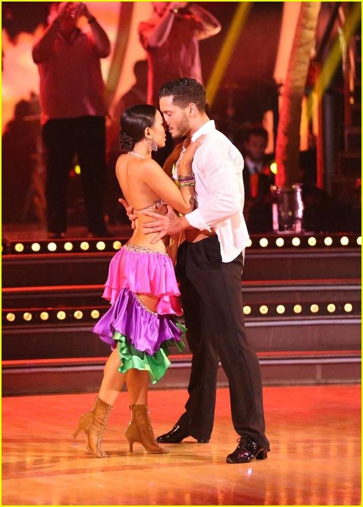 dwts week 8 janel and val relationship