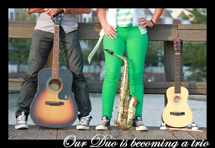 Musical pregnancy announcement. #love #baby #family #trio