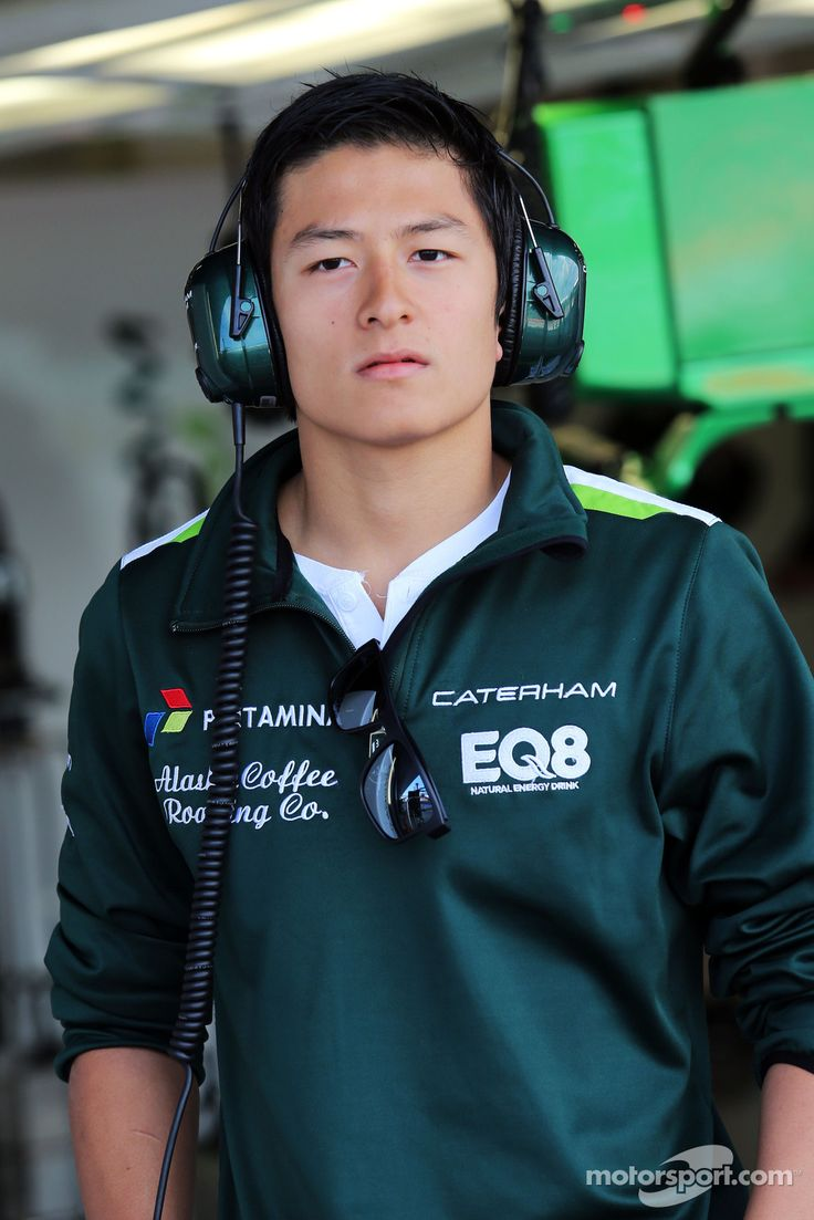 Rio Haryanto, Caterham's test driver at the 2014 Silverstone test series