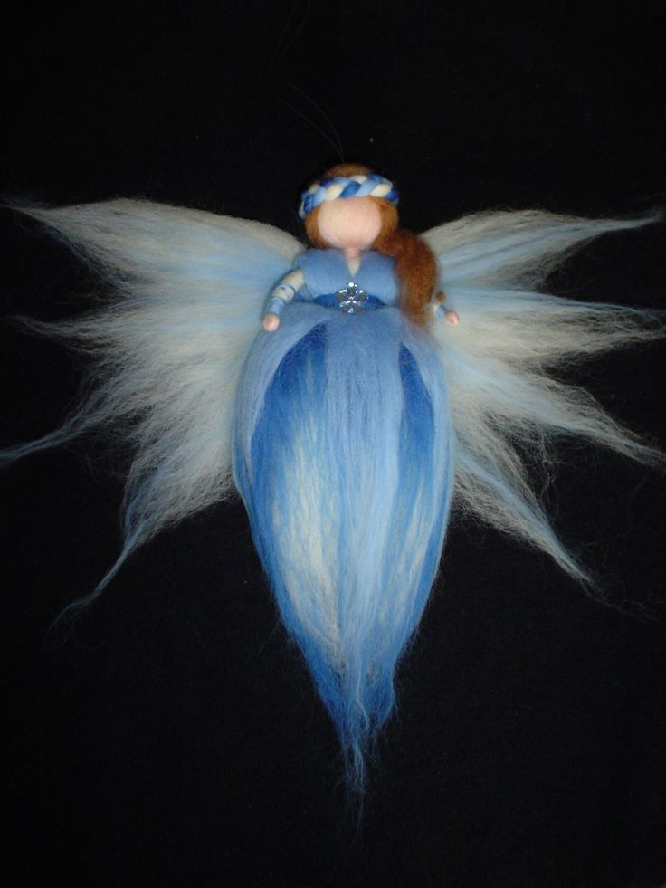 Blue Fairy, Winter time, Kids Room Decor, Waldorf inspired