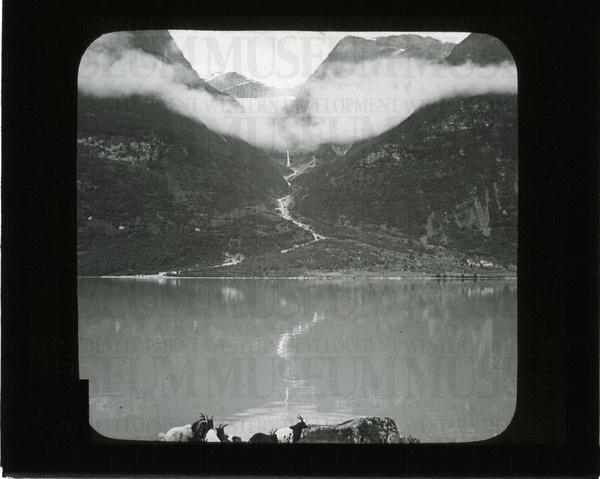 Grytereids glacier above the clouds, seen across ... | saskhistoryonline.ca