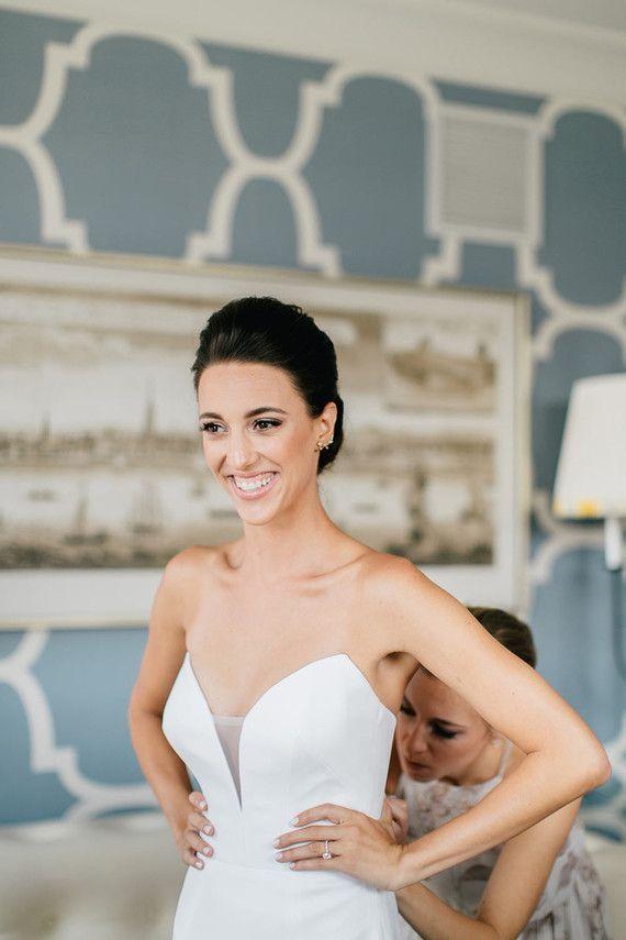 Suzanne Neville wedding dress. http://www.100layercake.com/wedding-ideas/bold-and-beautiful-philadelphia-wedding-nicole-kevin/177861/suzanne-neville-wedding-dress