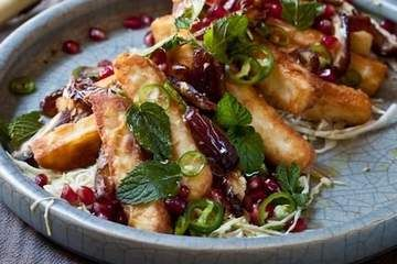 A fried haloumi salad by Karen Martini to try for summer.