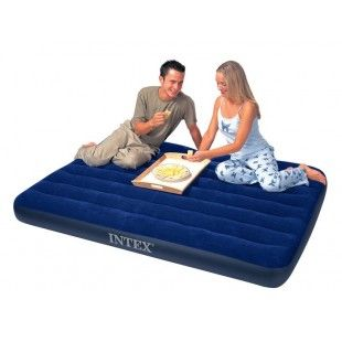 Matelas gonflable 2 places Intex Downy Classic Duo 191 x 137 x 22 cm