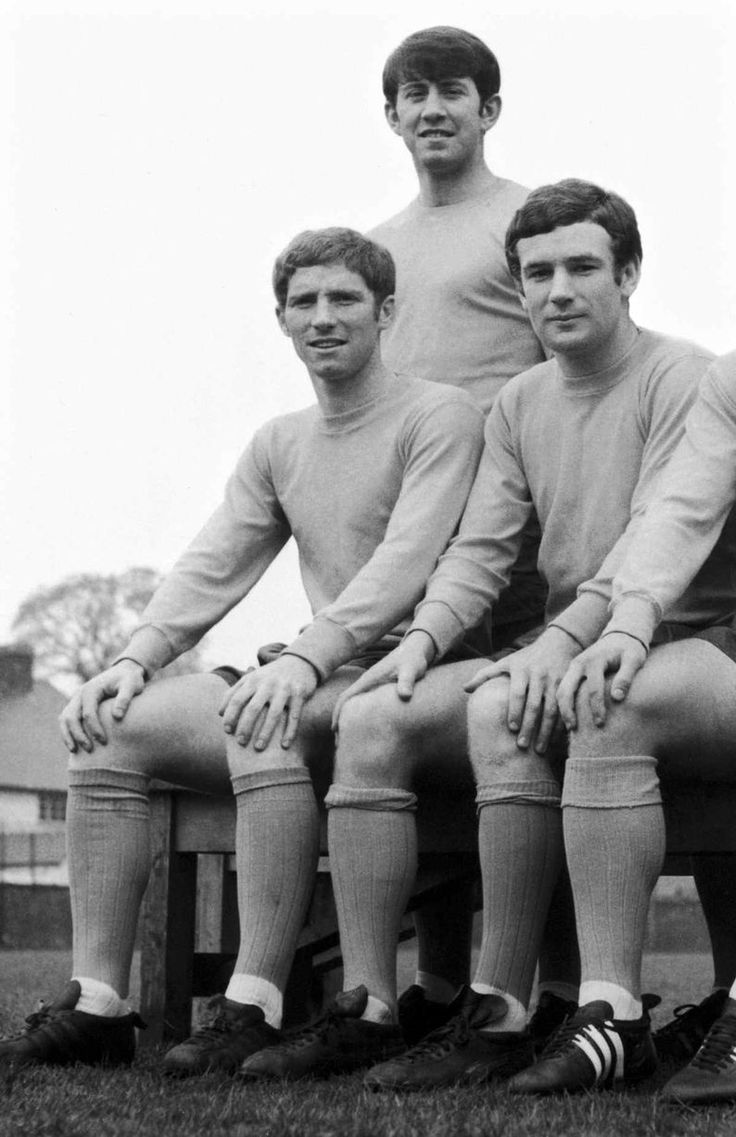 Everton's holy trinity: Howard Kendall, Colin Harvey and Alan Ball pose for photographes at a pre season photocall. Circa 1968  https://oddsjunkie.com <--  free football info and offers