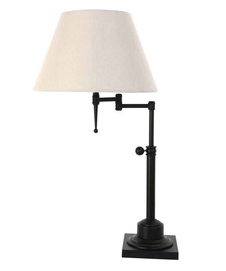 Bentley Large Table Lamp in Black/Off White