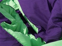 Downtown Purple/Lime Green Reversible College Comforter