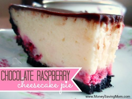 cheesecake until you've tried this Chocolate Raspberry Cheesecake Pie ...