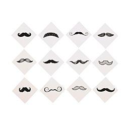 Mustache Finger Tattoos