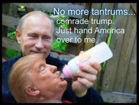 No more tantrums...comrade Trump. Just hand America over to me.